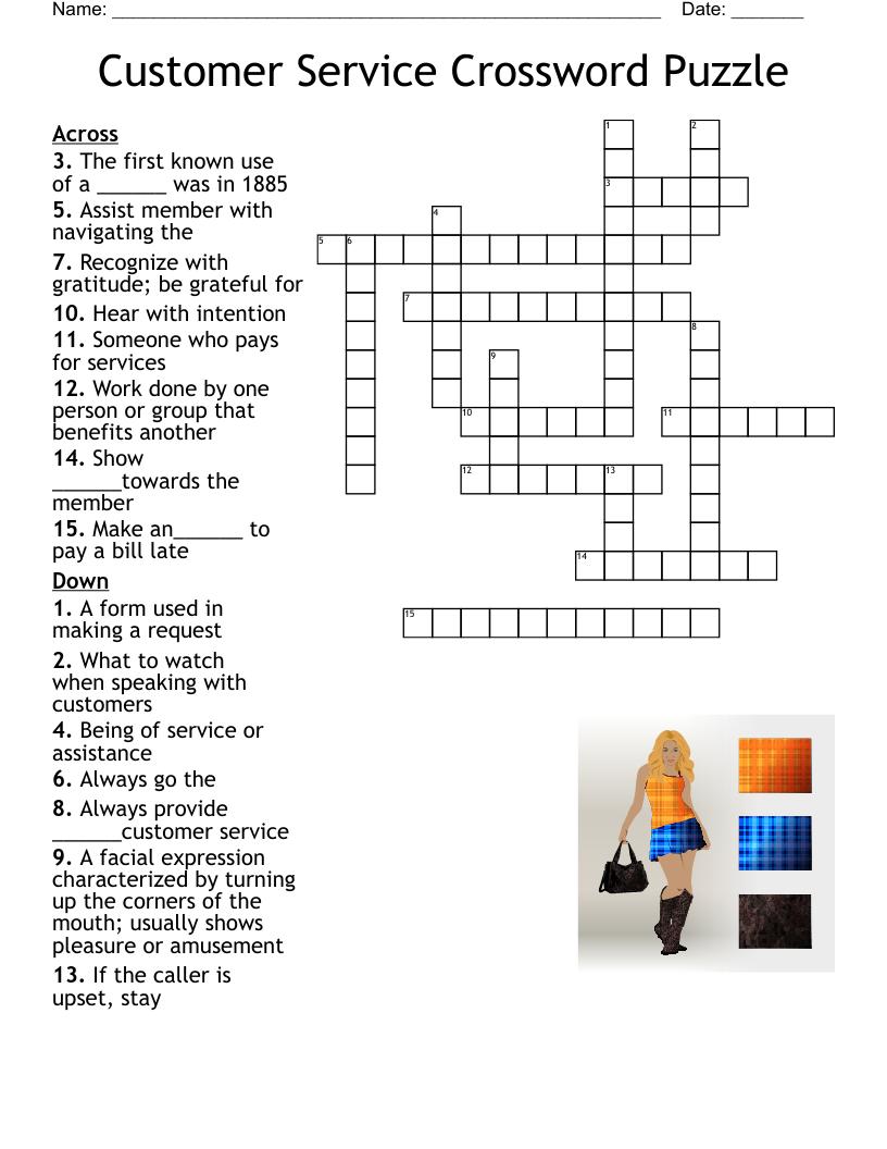 Customer Service Week Crossword - WordMint