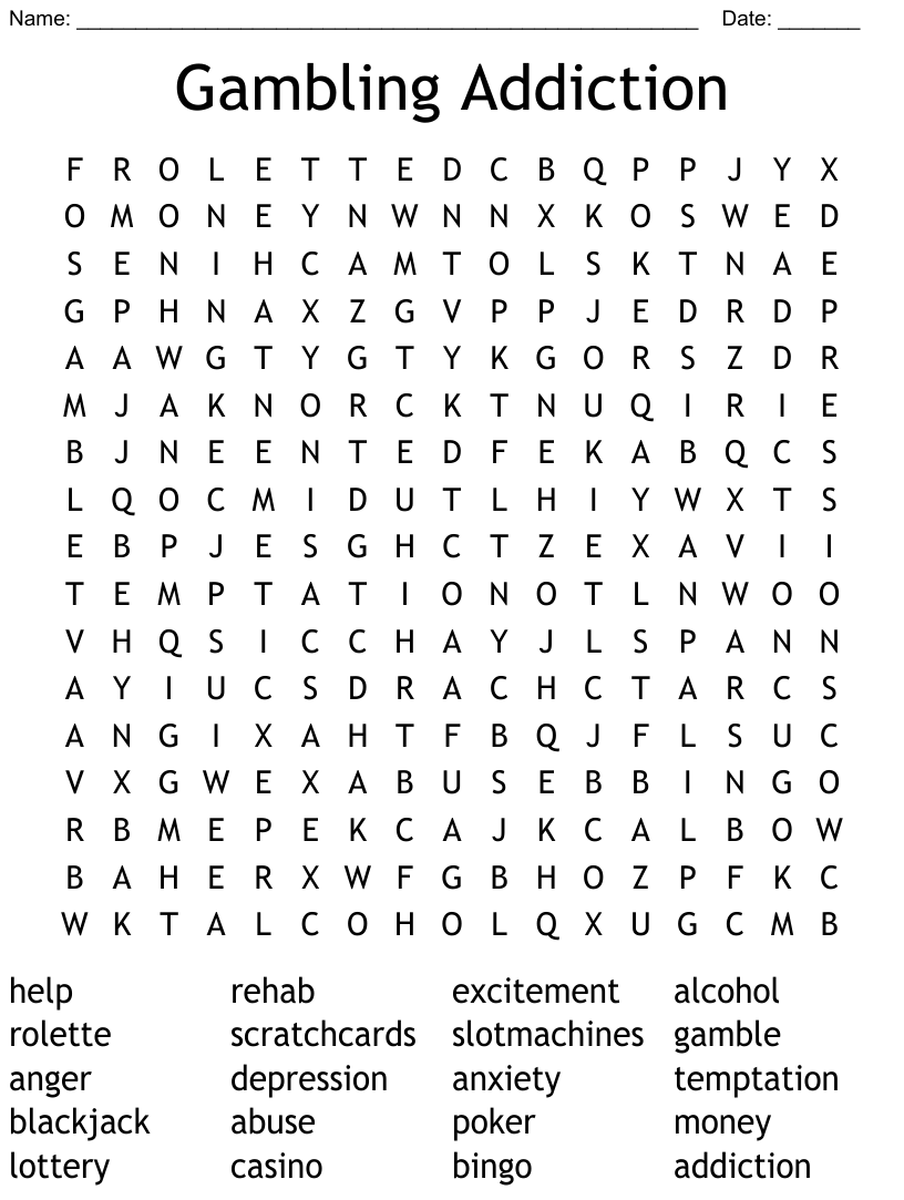 Casino Word Search Wordmint