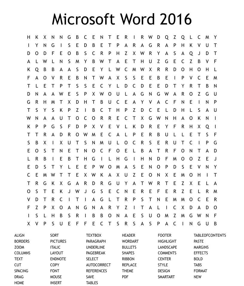 Microsoft Word 21 Word Search - WordMint With Regard To Word Sleuth Template