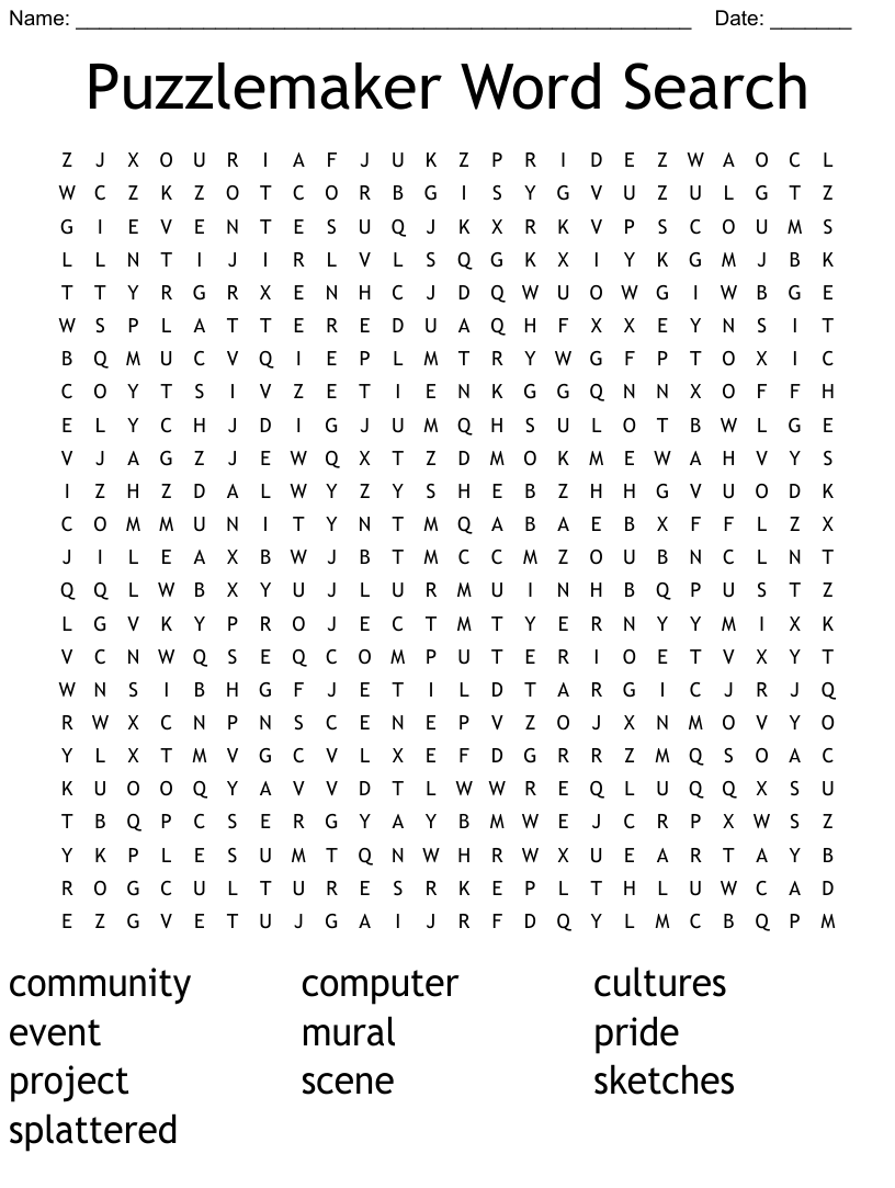 Puzzlemaker Word Search Wordmint