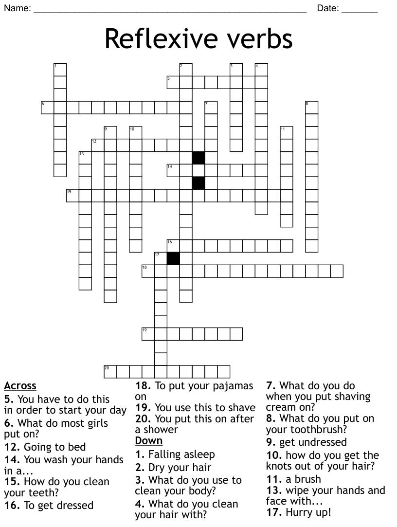 Les Verbes Reflechi Au Present Crossword Wordmint [ 1135 x 1121 Pixel ]