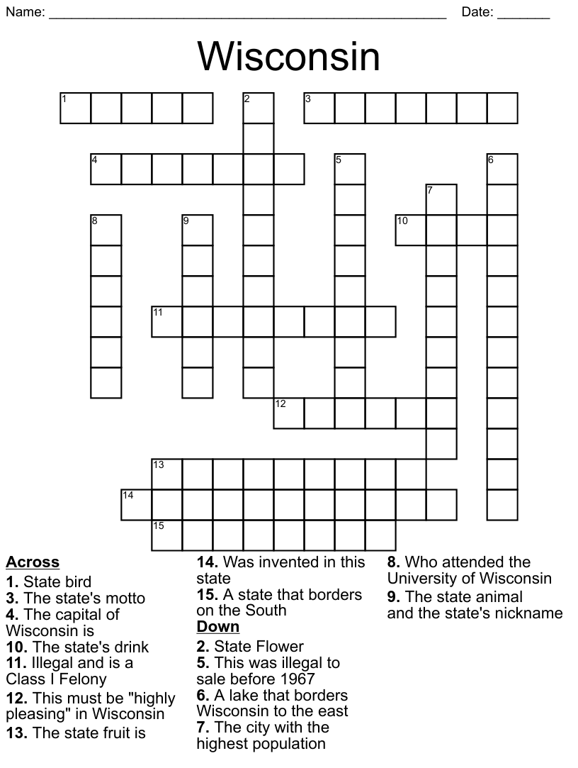 Travel Crossword - WordMint